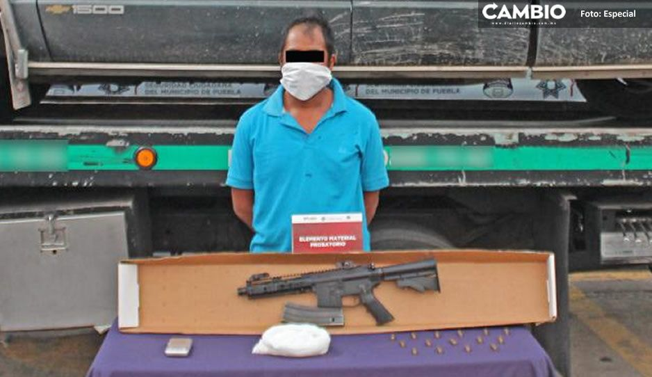Detienen a Eloy por rafaguear una casa con arma exclusiva del ejército en Totimehuacan