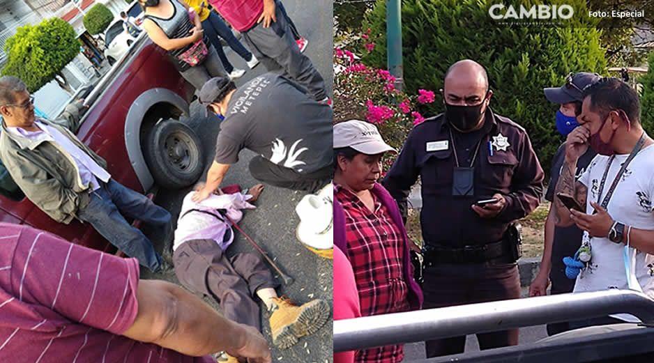 Desalmado atropella a abuelito en Metepec y se da a la fuga
