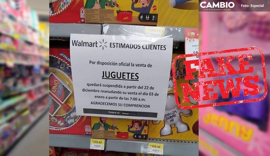 Fake News: Gobierno estatal no ha prohibido venta de juguetes en Puebla