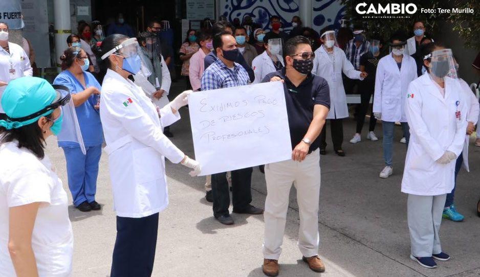 Médicos del ISSSTE exigen pago de prima por riesgos profesionales y equipo de protección Covid (VIDEO)