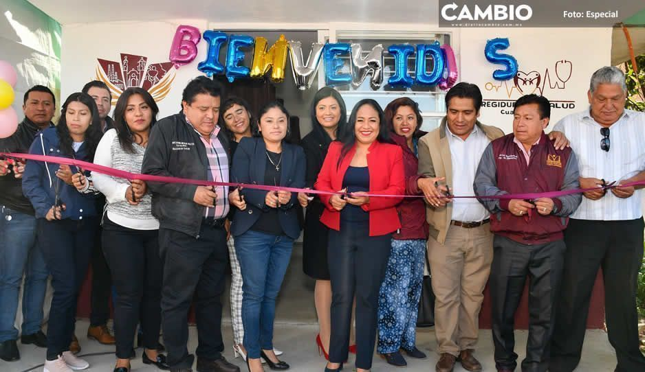 Lupita Daniel inaugura Casa de Salud en colonia Nueva Alemania, Cuautlancingo