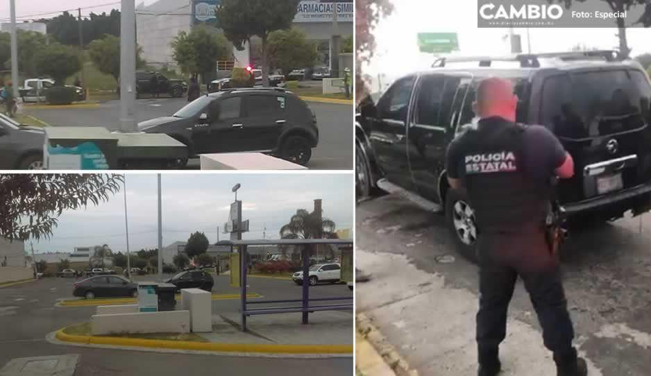 Tras intensa persecución detiene a ratas con camioneta sin placas en Atlixco