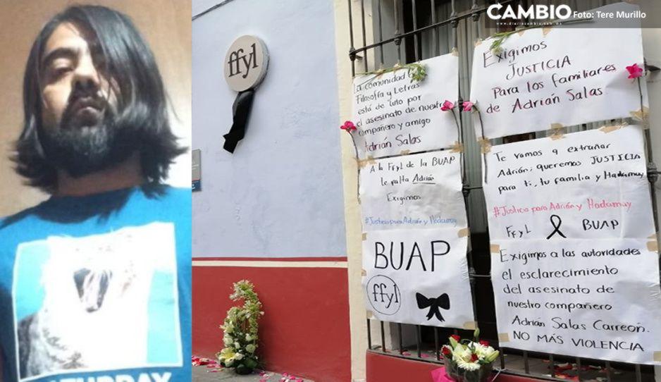 Compañeros de la BUAP de Adrián Salas exigen justicia ante cruel asesinato (VIDEO)