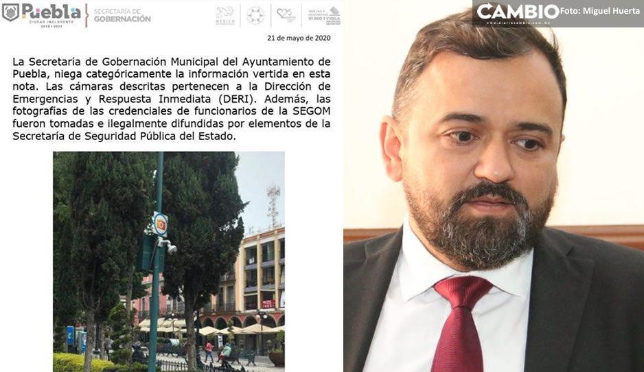 Reconoce René Sánchez que las cámaras espías sí son del DERI