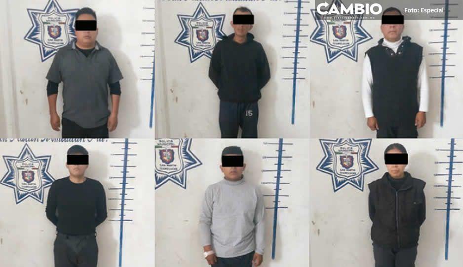 Policía de Texmelucan detiene a siete  por usurpar funciones de seguridad