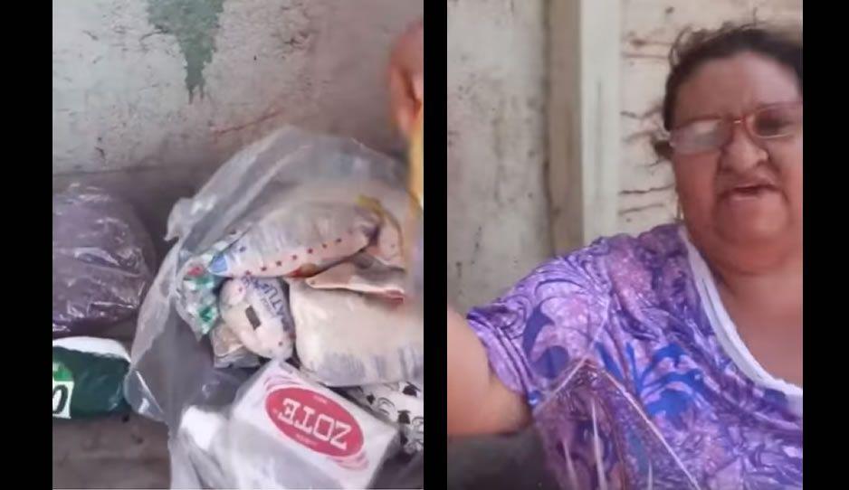 Señora malagradecida reniega del jabón Zote que viene en su despensa: ¡es jabón de perros! (VIDEO)