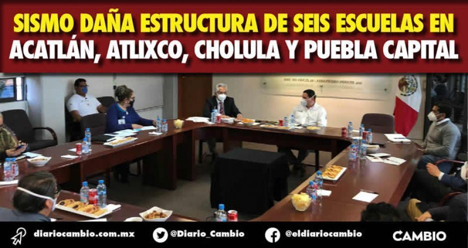 Sismo daña estructura de seis escuelas en  Acatlán, Atlixco, Cholula y Puebla capital