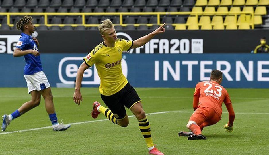 Haaland marca el primer gol en el regreso del futbol tras la pandemia (VIDEO)