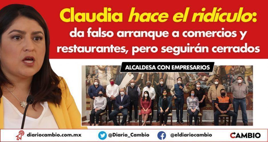 Claudia hace el ridículo: da falso arranque a comercios y restaurantes, pero seguirán cerrados