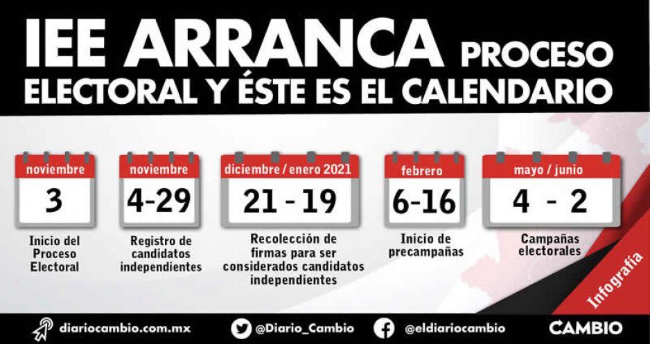 IEE arranca proceso electoral y este es el calendario: precampañas en febrero (VIDEO)