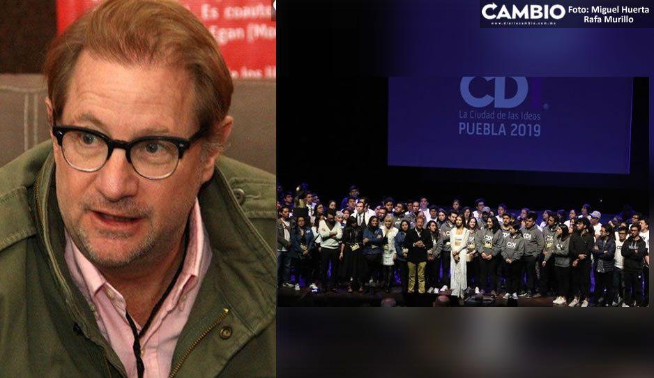 Andrés Roemer visitará Puebla para presentar Ciudad de la Ideas 2020