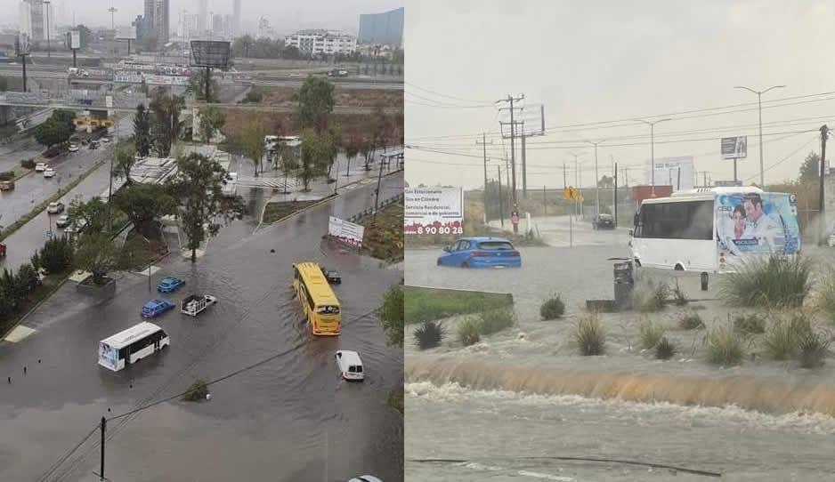 ¡Llueve Puebla! Caos en la Atlixcáyotl tras inundación en la incorporación del Periférico (FOTOS y VIDEO)
