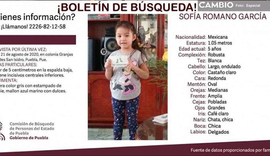 Ayuda a localizar a la pequeña Sofía Romano; tiene 5 años y se extravió en San Isidro