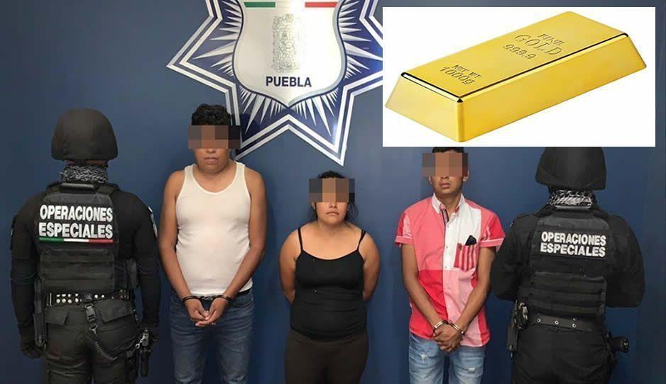 Con lingotes falsos de oro detienen a tres estafadores en Palmar de Bravo
