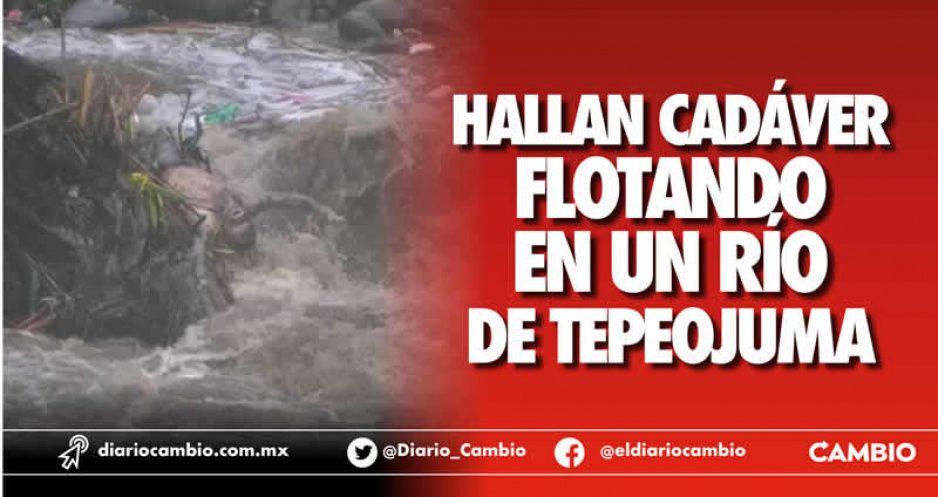 Hallan cadáver flotando  en un río de Tepeojuma
