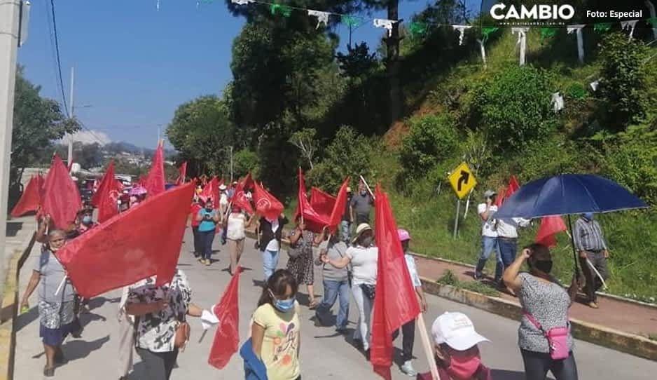 Siguen las manifestaciones en contra del Ecoloco Vargas, ahora antorchistas exigen obras al edil