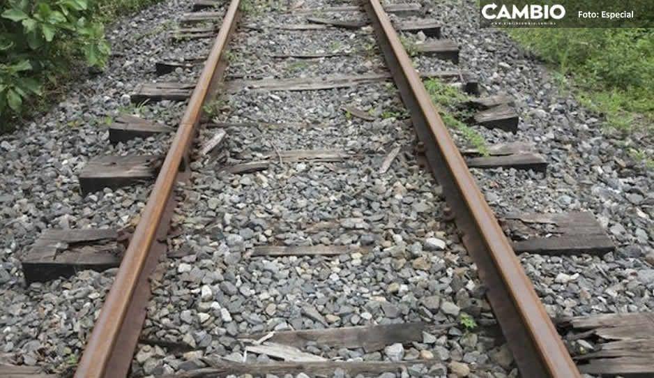 Aseguran camioneta con durmientes robados de las vías del tren en Texmelucan
