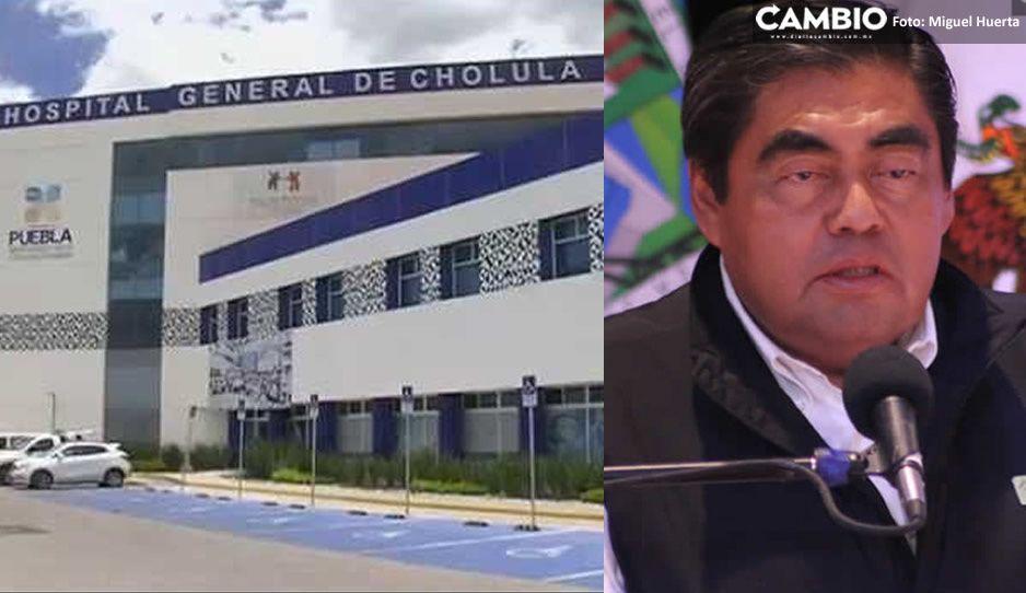 Hospital de Cholula está en proceso de reconversión para que ahí se atiendan casos de COVID-19: Barbosa