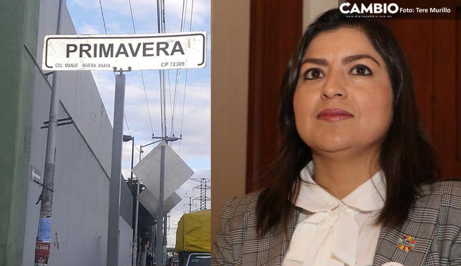 Pifia de Claudia: cambia letreros de calles y confunde Amalucan con Rivera Anaya