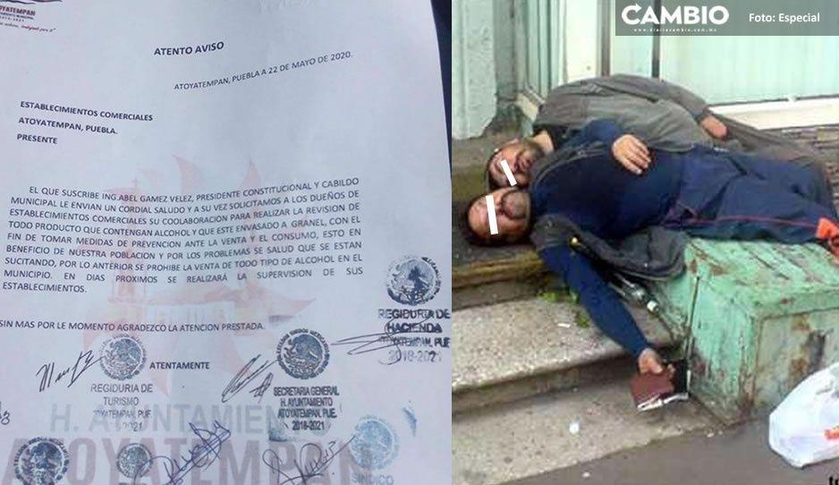 Al estilo de AMLO: Alcalde de Atoyatempan oculta muertes de borrachitos intoxicados por beber alcohol adulterado