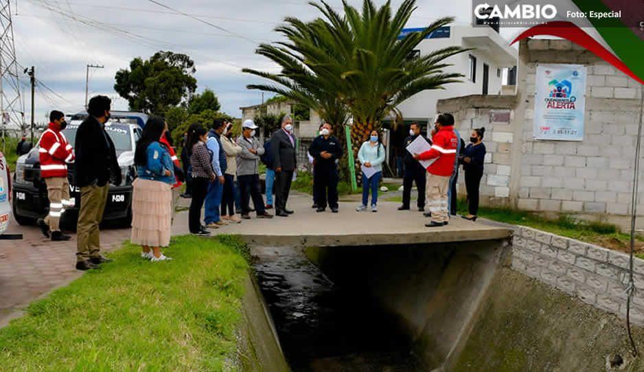 Supervisa Lupita Daniel acciones del Grupo de Seguridad Hídrica para evitar inundaciones en Cuautlancingo