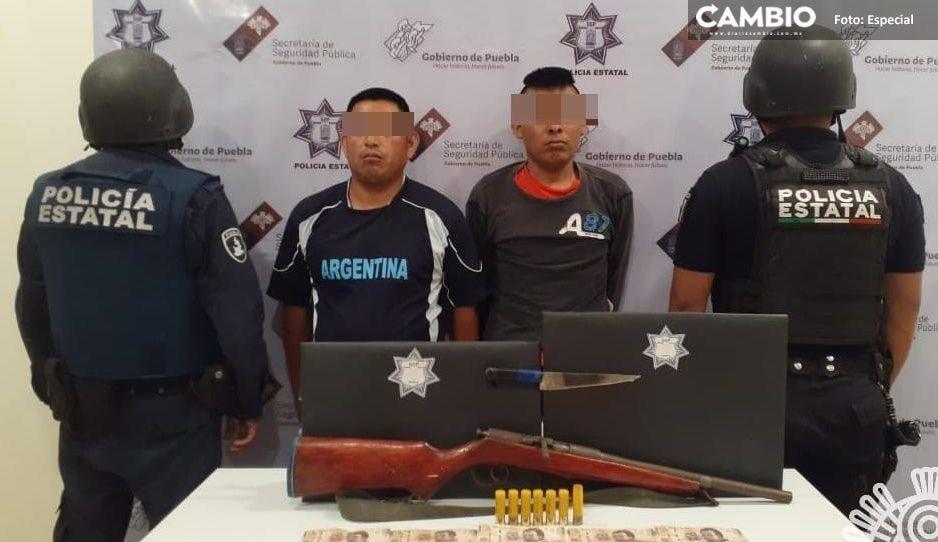 Aseguran a dos asaltantes en Chilac