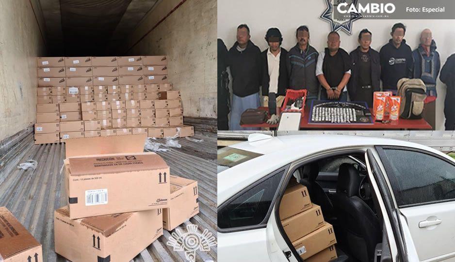 Detienen a siete ratas que robaron camión con mercancía en Coronango