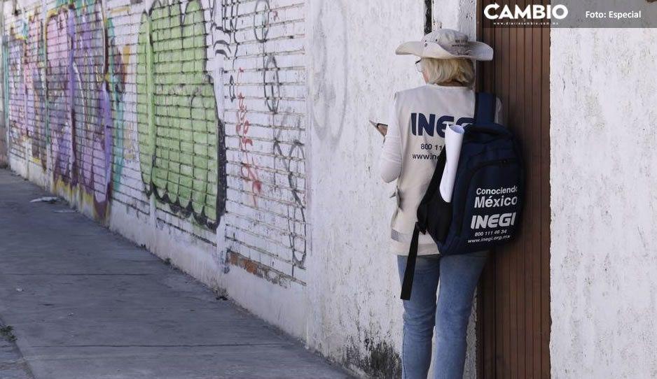 Encuestadora del INEGI escapa de robo en Santa María Moyotzingo, Texmelucan
