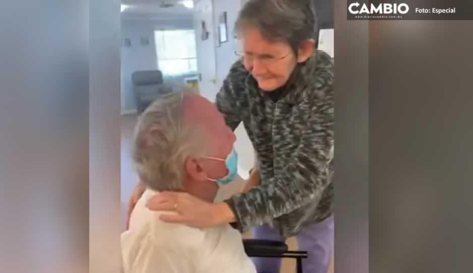 ¡Ternuritas! Así fue el reencuentro de una pareja de abuelitos tras estar meses separados (VIDEO)
