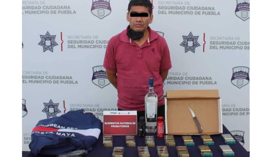 Detienen a ratota del Oxxo con cajetillas de cigarros en Guadalupe Hidalgo