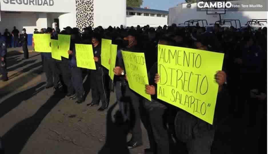 Estos son los cuatro puntos que exigen policías de la SSP para levantar paro en Analco