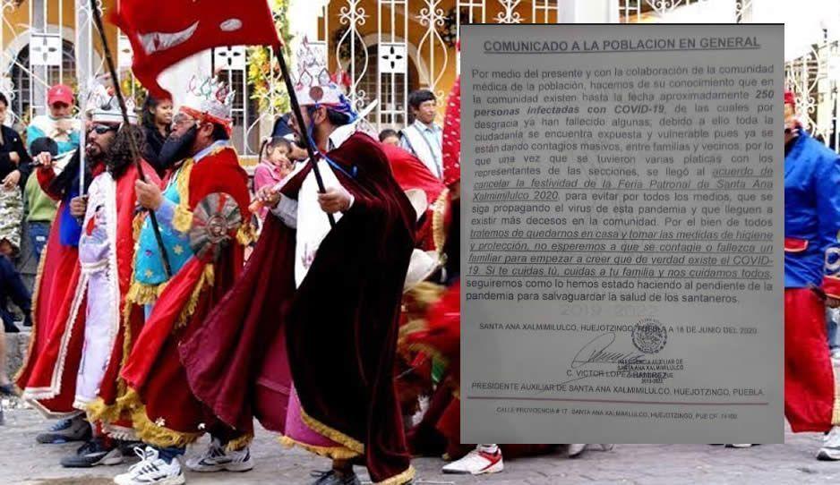 Suspenden fiesta patronal en junta auxiliar de Huejotzingo, hay más de 250 contagios