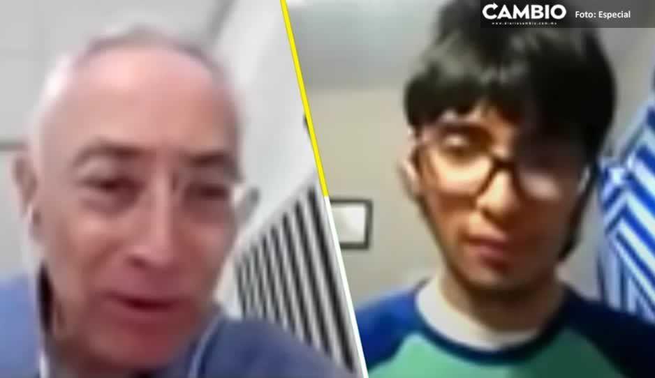 Profesor da cachetadas guajoloteras a alumno que no quería usar el cubrebocas (VIDEO)