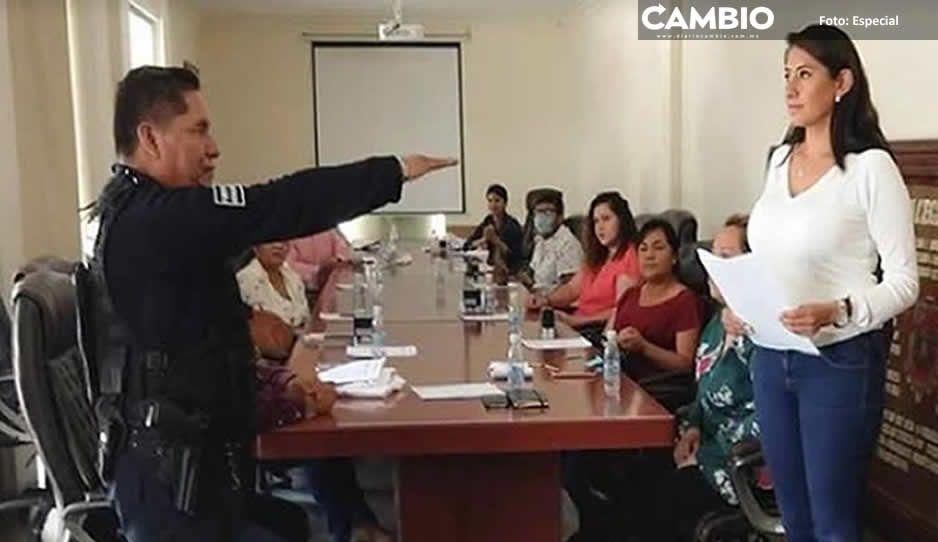 Presidenta de Huejotzingo tolera acoso sexual  de secretario de Seguridad Pública a una oficial