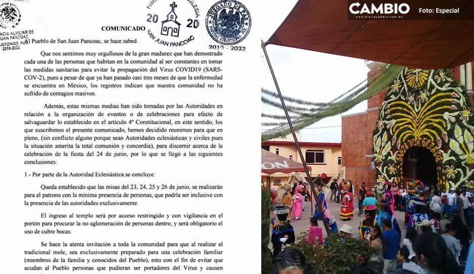 Sin miedo al Covid: enHuejotzingo realizarán la fiesta patronal de San juan Pancoac