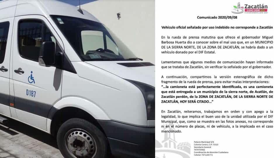 Ayuntamiento de Zacatlán se deslinda de la camioneta usada para acarrear cervezas