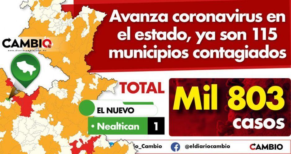 Avanza coronavirus en el estado, ya son 115 municipios contagiados