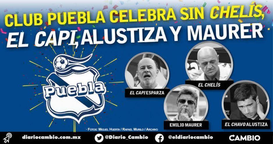 Excluyen a Chelís, El Capi, Alustiza y Maurer de los festejos del Club Puebla