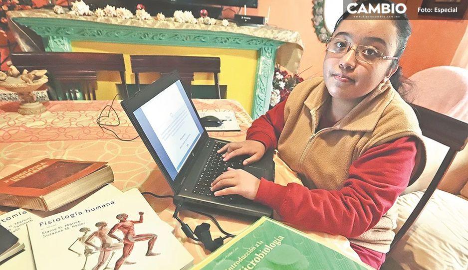 Ella es Guadalupe Salazar; Niña superdotada que propone tratamiento antiCovid