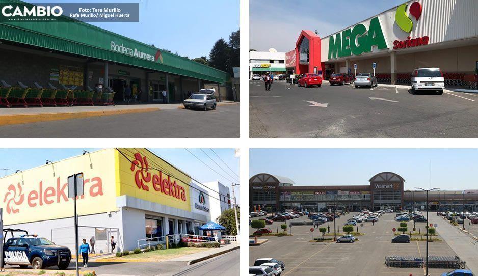Pese amenaza de saqueos, poca vigilancia en plazas comerciales de Puebla (FOTOS)