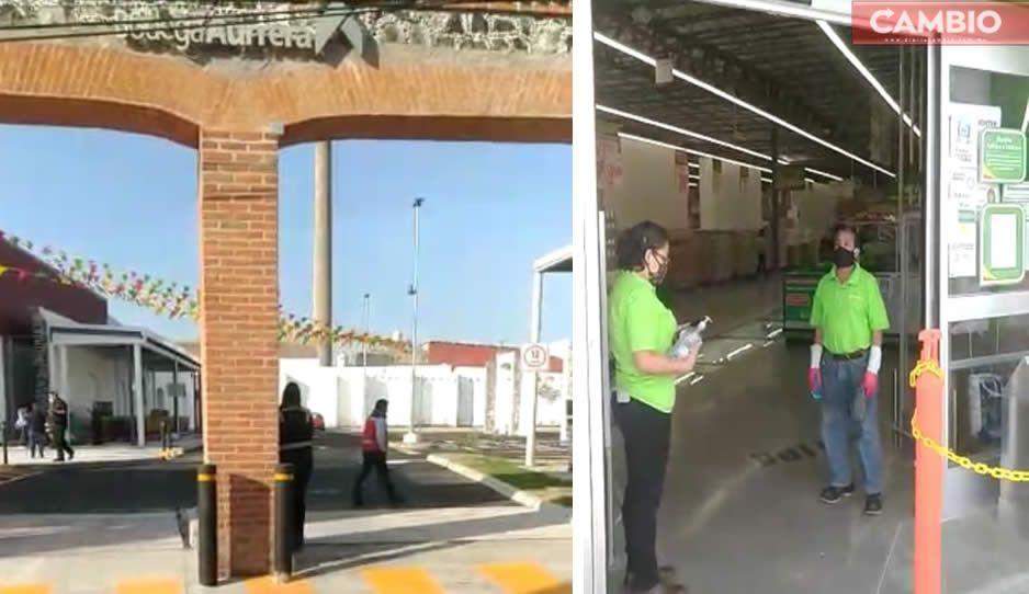 VIDEO: Abren Aurrera en plena contingencia y causa caos