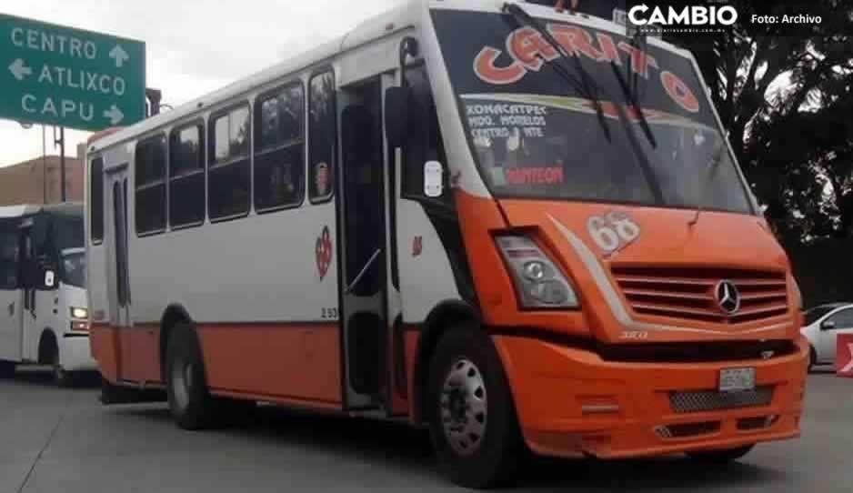 Encañonan y asaltan a pasajeros de la ruta 68 en Amalucan