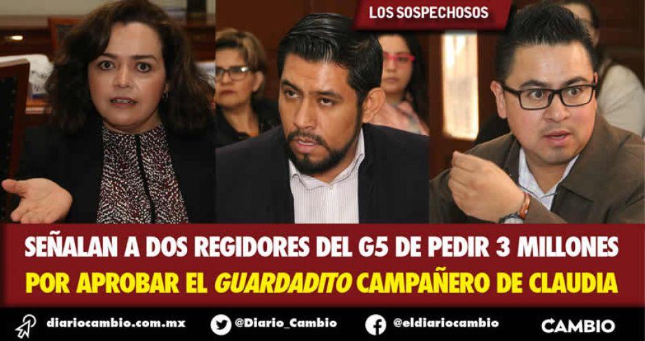 Señalan a dos regidores del G5 de pedir 3 millones por aprobar el guardadito campañero de Claudia (VIDEO)