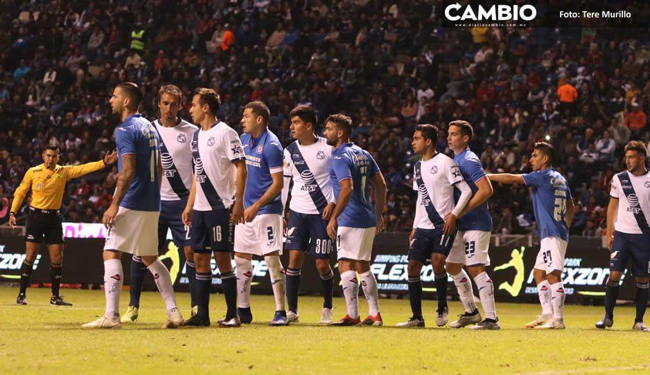 En medio del escándalo y sin público,  el Club Puebla recibe a Cruz Azul