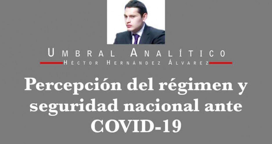 Percepción del régimen y seguridad nacional ante COVID-19