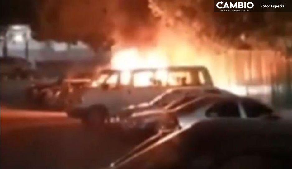 Médico del IMSS muere calcinado; le lanzaron explosivos a su camioneta (VIDEO)