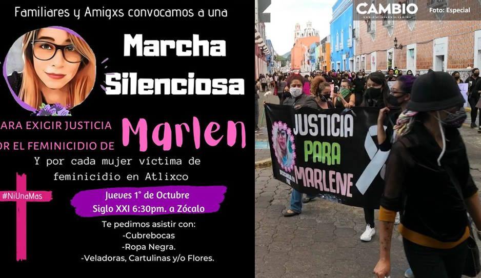 Mujeres salen a las calles para pedir justicia por Marlene en Atlixco (VIDEO)