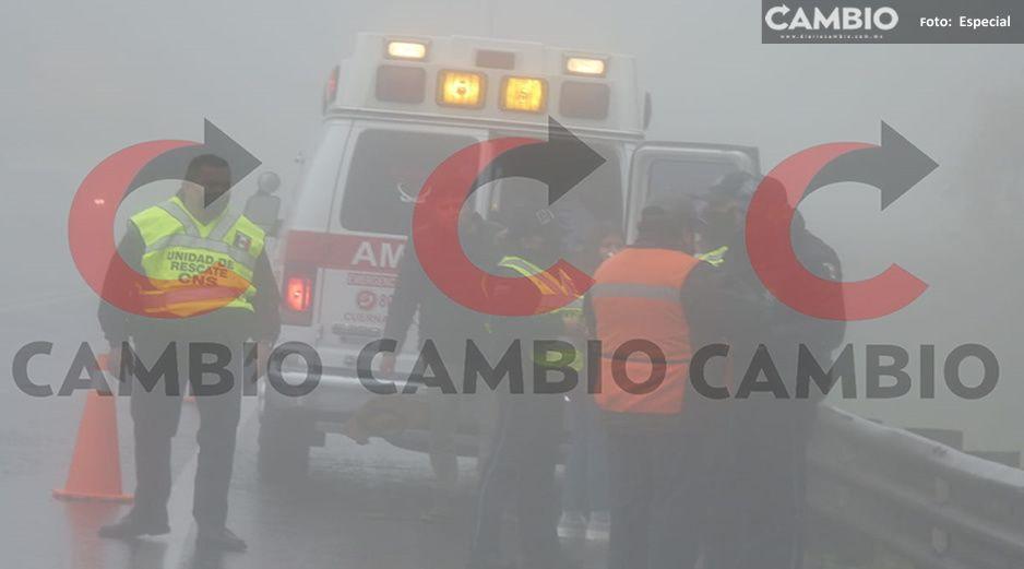 Aparatoso choque en la México Tuxpan deja tres lesionados