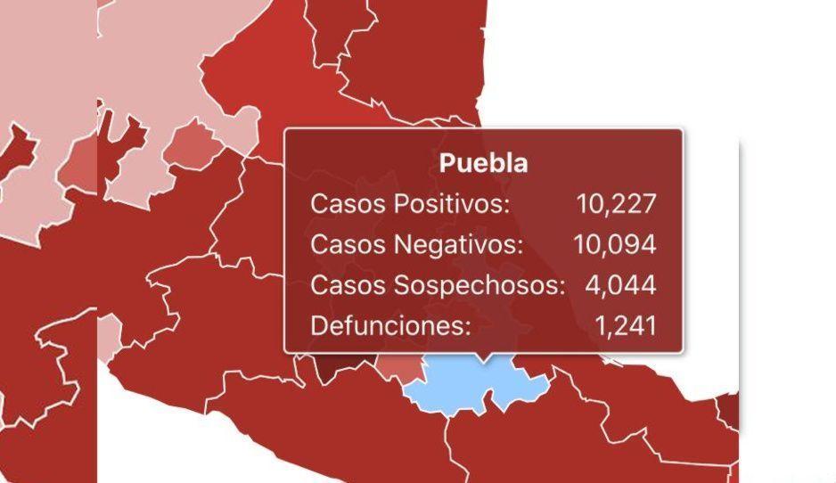 Gobierno de AMLO vuelve a ocultar muertes por covid en Puebla: reporta mil 241 de mil 255
