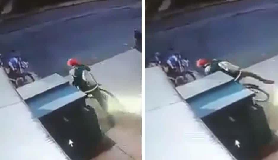 En segundos, roba una bicicleta en Cuautlancingo